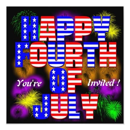 4to feliz de la invitación de julio