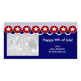 4to feliz de las tarjetas de la foto de julio tarjeta fotográfica personalizada