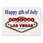 4to feliz de Las Vegas de la tarjeta de julio