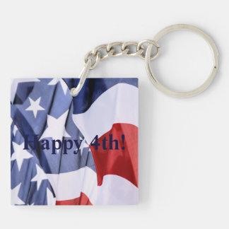 4to feliz de los llaveros de la bandera americana