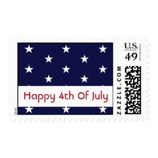 4to feliz de los sellos de julio (azul de las
