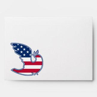 4to feliz de los sobres patrióticos del diseño de