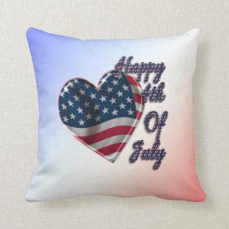 4to feliz del corazón de julio - almohada