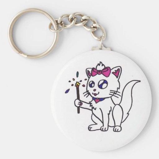 4to feliz del Día de la Independencia del gatito d Llavero