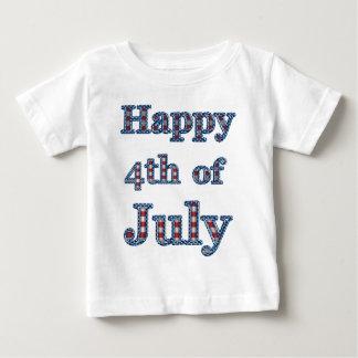 4to feliz del diseño del texto de las estrellas y tee shirts