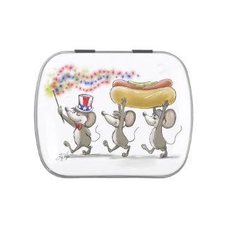 4to feliz del Mic, del mac y de Moe de la lata del Frascos De Caramelos