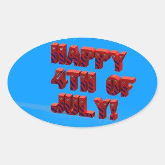 4to feliz del pegatina del 3 de julio D