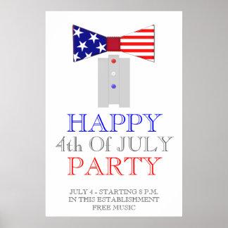 4to feliz del poster de la pajarita de julio los E