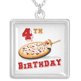 4to Fiesta de la pizza del cumpleaños Collar