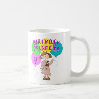 4to Fiesta de la princesa cumpleaños del cumpleaño Taza De Café