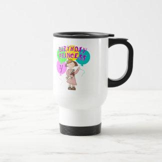 4to Fiesta de la princesa cumpleaños del cumpleaño Tazas De Café