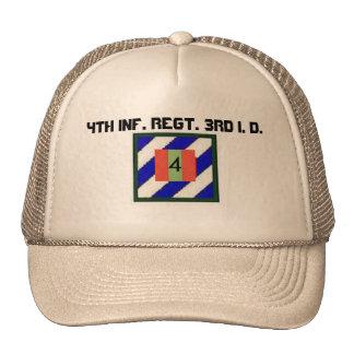 4to INF. Regimiento. 3ro Identificación Gorros Bordados