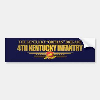 4to Infantería de Kentucky Pegatina Para Auto