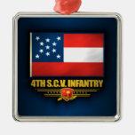 4to Infantería voluntaria de Carolina del Sur Adorno De Navidad