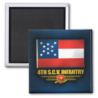 4to Infantería voluntaria de Carolina del Sur Imán Cuadrado
