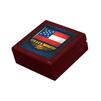 4to Infantería voluntaria de Carolina del Sur Joyero Cuadrado Pequeño