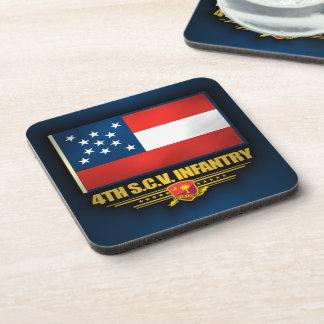 4to Infantería voluntaria de Carolina del Sur Posavasos De Bebidas