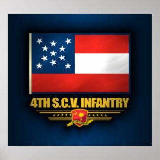 4to Infantería voluntaria de Carolina del Sur Póster