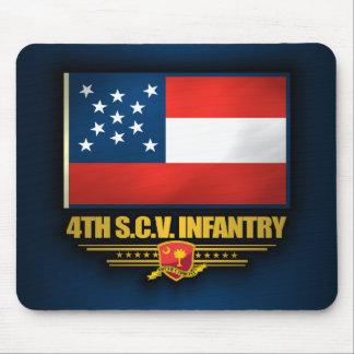 4to Infantería voluntaria de Carolina del Sur Tapetes De Ratones