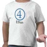 4to Muchacho adaptable de la camiseta del cumpleañ