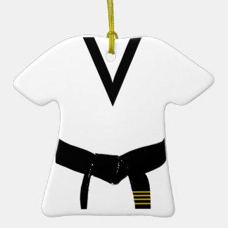 4to Ornamento del uniforme de la correa negra del Ornaments Para Arbol De Navidad