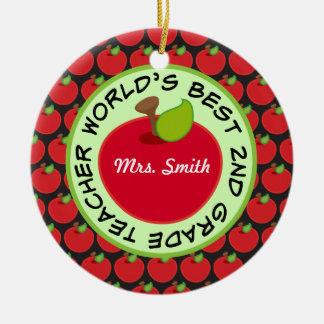 4to Ornamento personalizado grado del regalo del p Ornamentos De Reyes