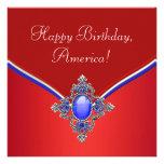 4to patriótico azul blanco rojo del fiesta de juli anuncios