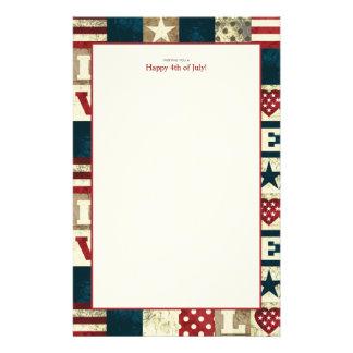 4to patriótico de América del amor de los efectos  Papelería