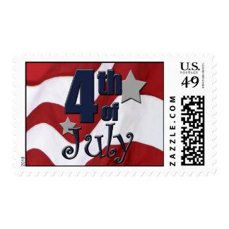 4to patriótico del franqueo de julio sello postal