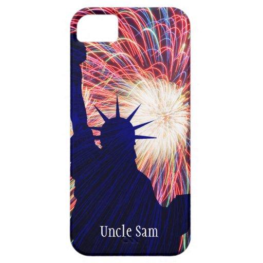 4to personalizada de los fuegos artificiales de funda para iPhone SE/5/5s