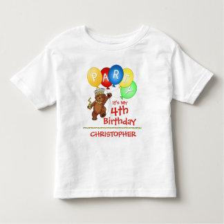 4to personalizado de la fiesta de cumpleaños del camiseta
