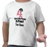 4to pirata lindo del cumpleaños temático camisetas