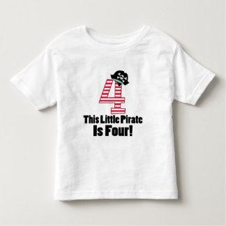 4to pirata lindo del cumpleaños temático playera de bebé