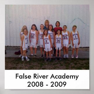 4to Poster del baloncesto de los chicas del grado