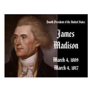 4to Presidente de los Estados Unidos James Madison Tarjeta Postal