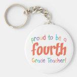 4to profesor orgulloso del grado llaveros personalizados