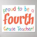 4to profesor orgulloso del grado posters