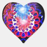 4to que sorprende del caleidoscopio de julio pegatina de corazón personalizadas