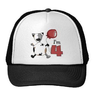 4to Regalo de cumpleaños del perrito del cumpleaño Gorros