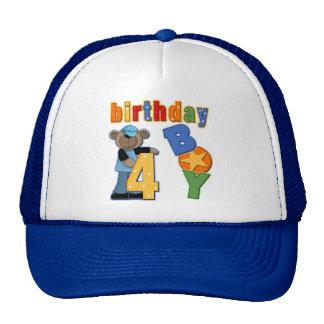 4to Regalo de cumpleaños Gorros Bordados