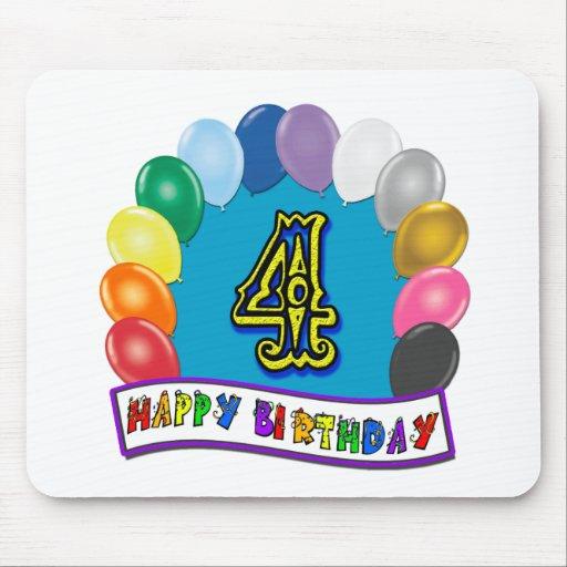 4to Regalos de cumpleaños con diseño clasificado d Tapete De Ratones