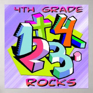 4to Rocas del grado - poster de los números