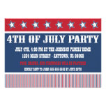 4to rústico de las invitaciones del fiesta de juli