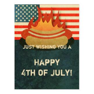 4to sucio de la postal del fiesta del Bbq de julio