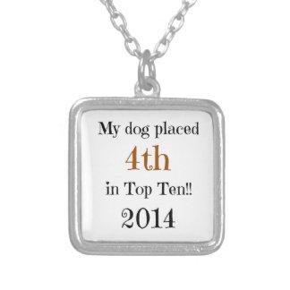 4to Top Ten Colgante Personalizado