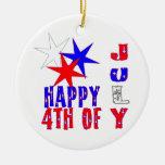 4to vibrante del ornamento del día de julio ornaments para arbol de navidad