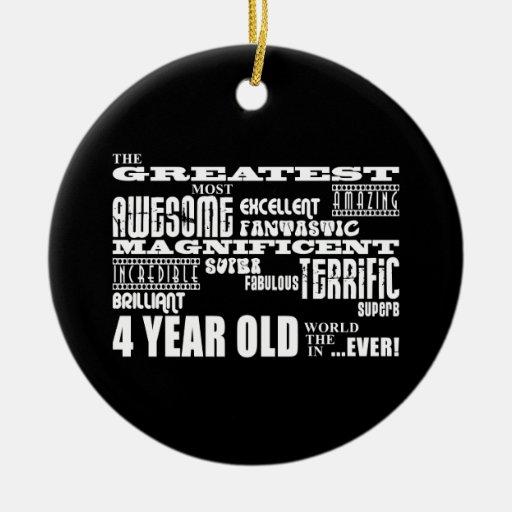 4tos cumpleaños modernos frescos: Los 4 años más g Ornamente De Reyes