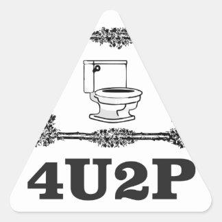 4u2p ornate triangle sticker