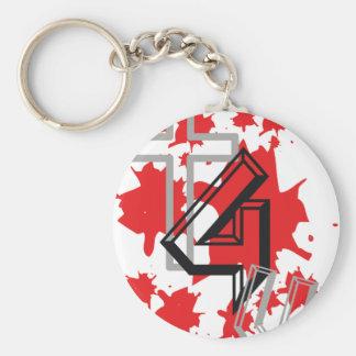 +4U Gris & Noir Keychain