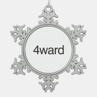4ward.ai adorno de peltre en forma de copo de nieve